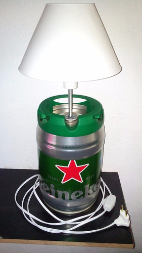 abajur luminária barril de heineken