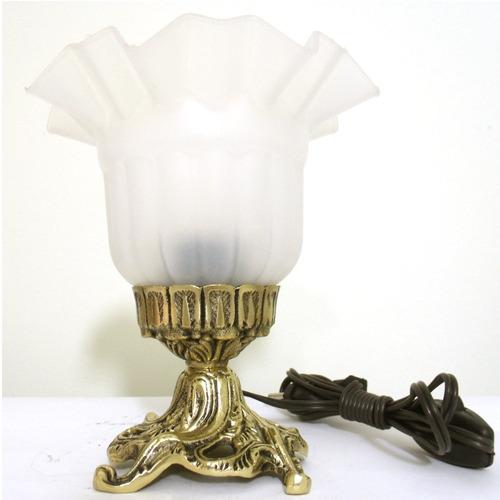 abajur luminária em bronze com tulipa inquebrável