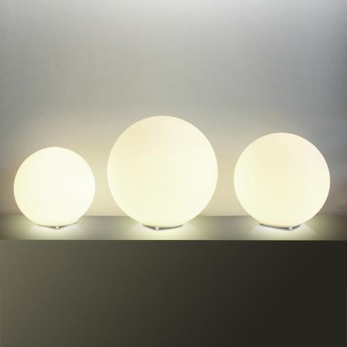 abajur luminária esfera vidro moderno sala m755-35 gda