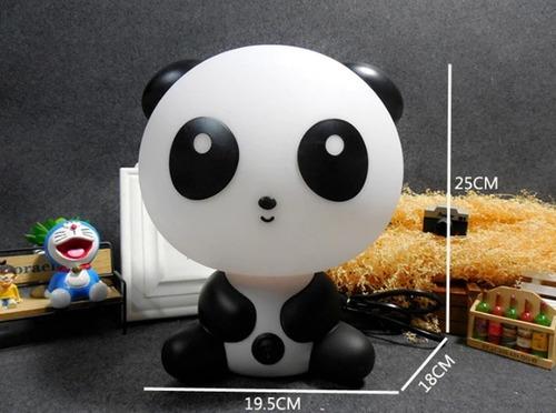 abajur luminária panda p/ quarto infantil com lampada bivolt