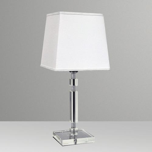 abajur luminária vidro cristal cubo quarto sala - gda