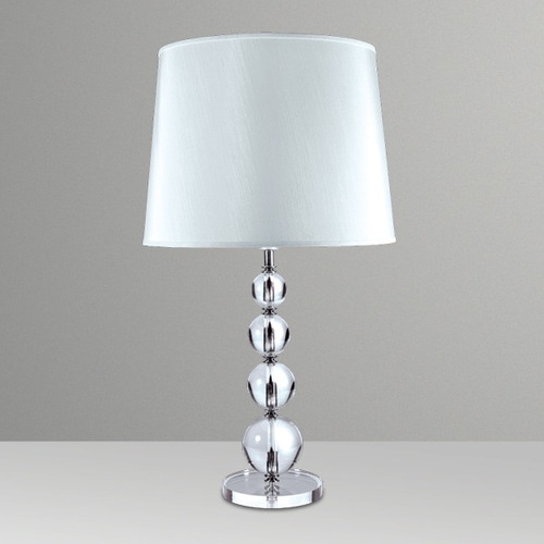 abajur luminária vidro cristal esfera crescente - golden