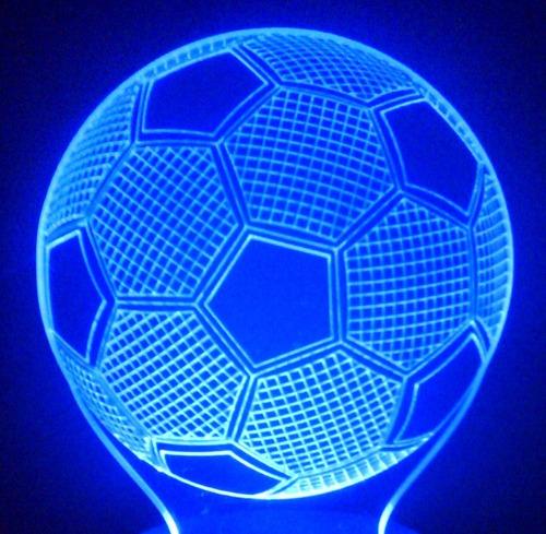 abajur mini de tomada, bola de futebol 3d