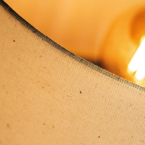 abajur octo gota de madeira c/ cúpula de tecido 48cm