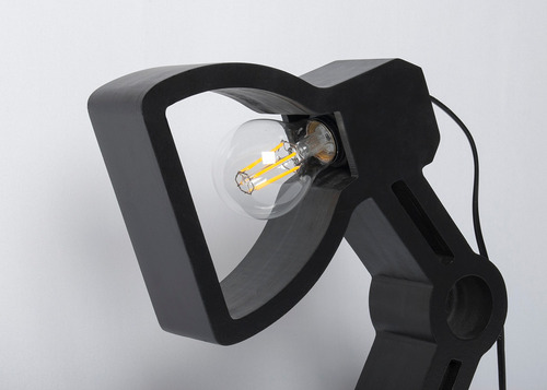 abajur pix preto com interruptor 30cm