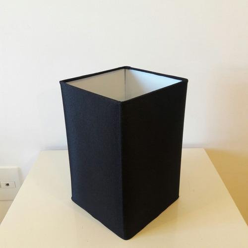 abajur quadrado de mesa md1012 cúpula 25/16x16 preta