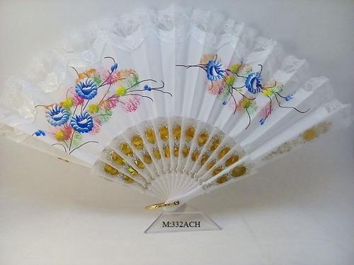 abanico chino pintado a mano
