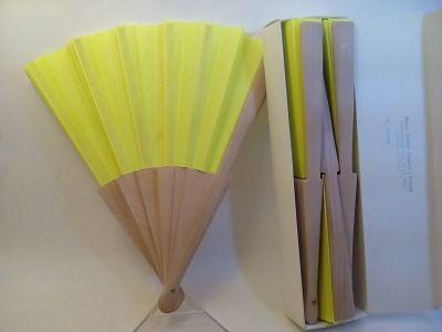 abanico español varilla madera tela lisa.