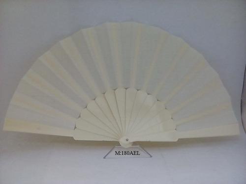 abanico español varilla plástico y tela color liso.