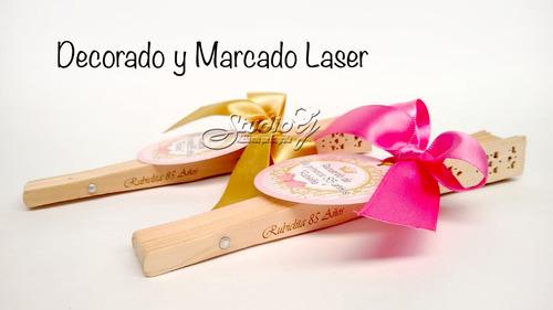 abanico laser personalizado burbujero boda, shower 15 añ