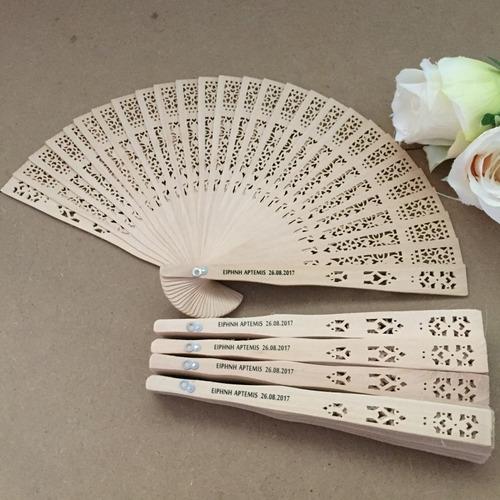 abanico madera personalizado boda, matrimonio, marcado laser