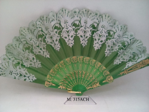abanico  tela tipo seda chino(pieza)