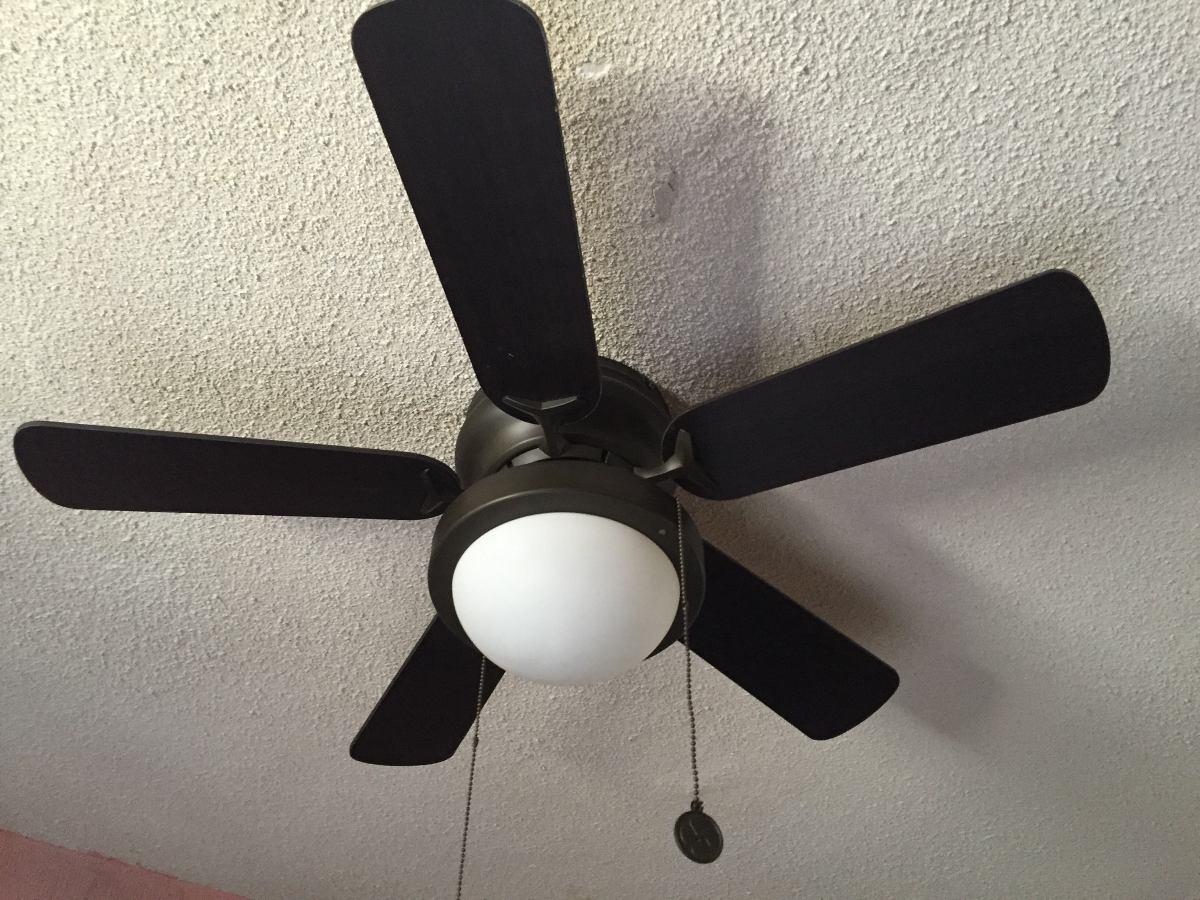 Abanico ventilador techo con l mpara color chocolate 5 - Lamparas de techo con ventilador ...