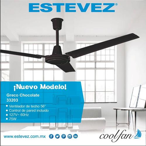 abanico ventilador techo greco chocolate industrial nuevos 2