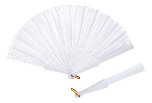 abanicos blancos de tela y boda evento fiestas economico l42
