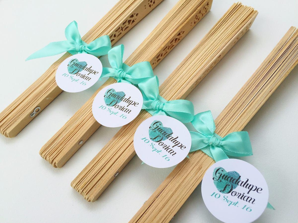 Abanicos personalizados boda madera recuerdo fiesta xv - Abanicos para decorar ...