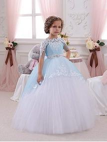 Abaowedding Vestido Para Niñas Elegante Fiesta Boda Reina