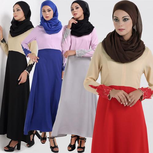 abaya islmico de dubai caftan vestido largo robe