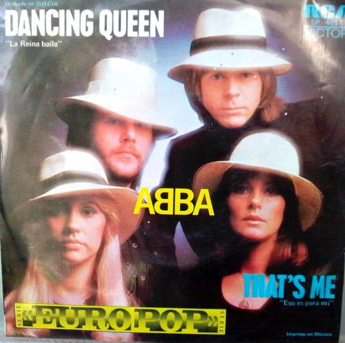 abba dancing queen ep vinyl 45 rpm mexicano, 1976
