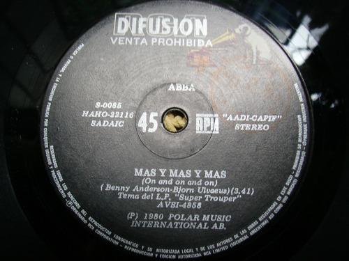 abba - mas y mas y mas / el verano aquel simple vinilo promo