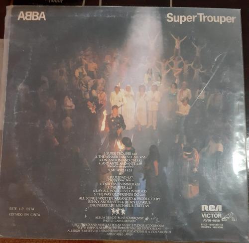 abba - super trouper + los 10 años (mb)  (kikefpvinilos)