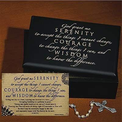 abbey press 45605 serenity box and card