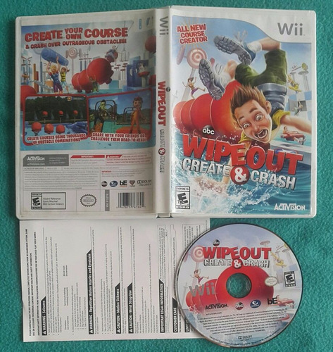 abc wipeout - create & crash nintendo wii - compatible wii u