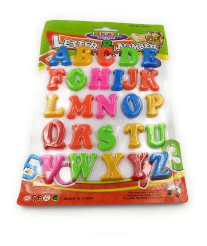 abcdario magnetico de colores juguete educativo