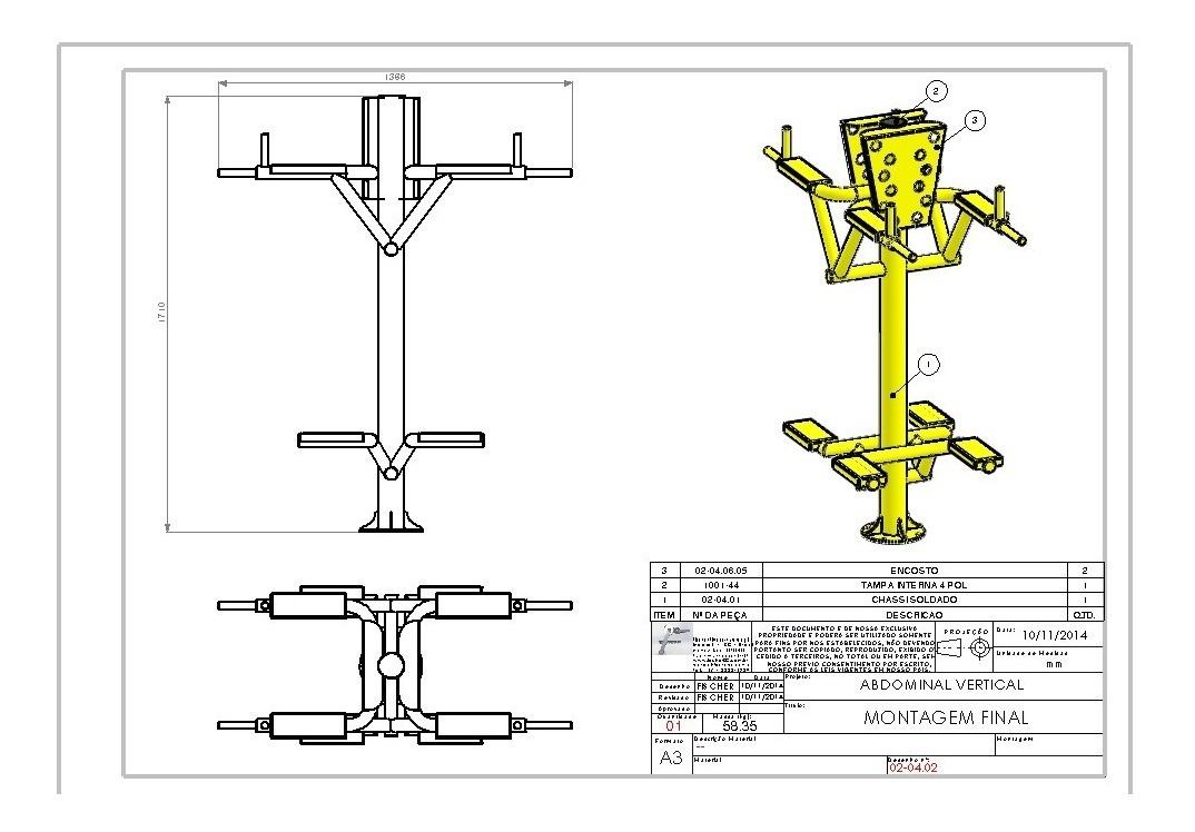 Abdominal Vertical Academia Ar Livre Apenas Projeto R 19 99
