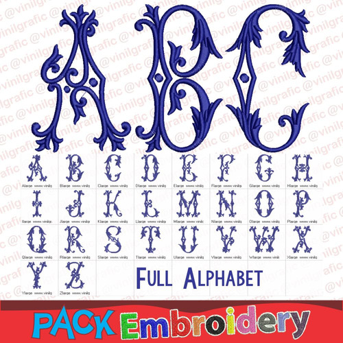 abecedario de chocolate letras tribal ornamental bordadora