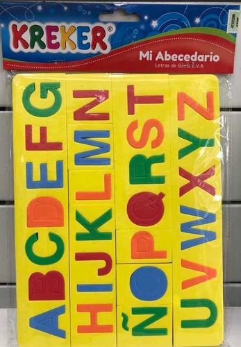 abecedario goma eva encastre kreker july toys