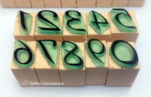 abecedario sellos de goma alfabeto español m-1 completo
