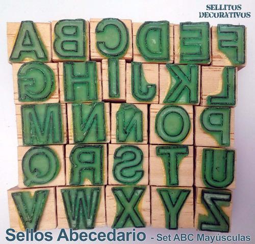 abecedario sellos de goma didáctico español - mayúsculas