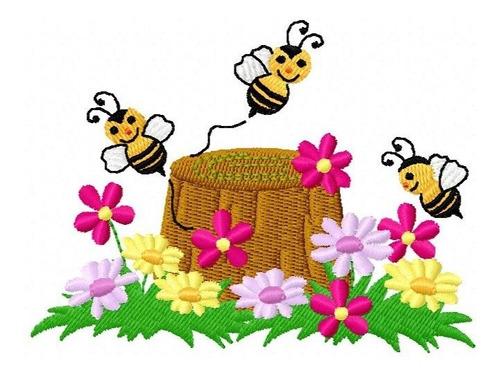 abelhinhas honey - coleção de matriz de bordado