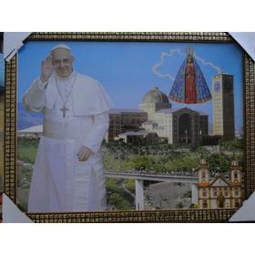 Abençoado !!!!!  Papa Francisco I Quadro Moldura 42 X 32  Cm