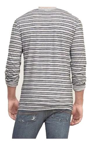abercrombie camiseta manga longa masculina tamanho g