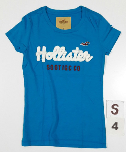 abercrombie & fitch hollister remera mujer s,m,l,xl. algodon
