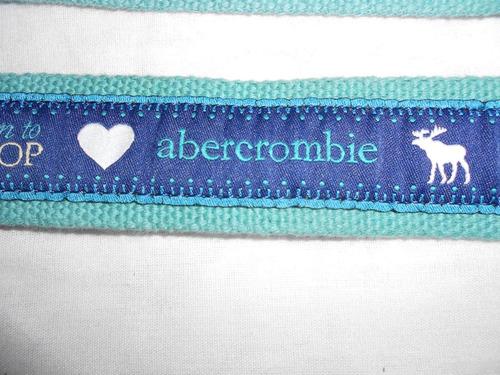 abercrombie***cinturon azul con verde agua***