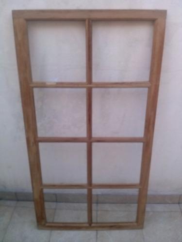 abertura ventana de madera 8 cuadrados roble nuevas