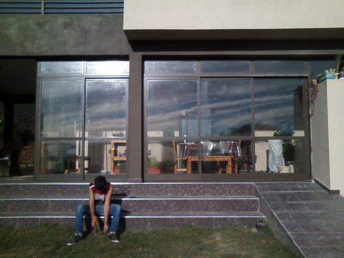 aberturas de aluminio fabricación a medida vidrios dvh