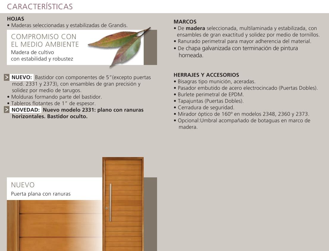 Aberturas Portada Puerta 90 + Lateral Oblak 2331 Madera - $ 20.500 ...