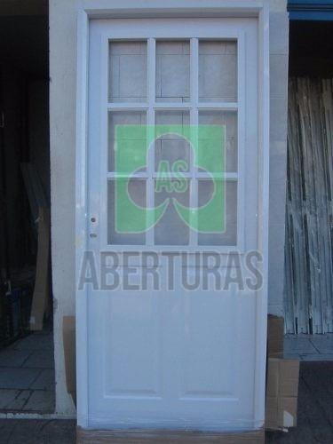 aberturas: puerta doble chapa inyectada americana 1/2 reja