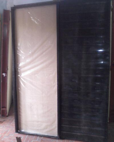 aberturas puertas corredizas de embutir cedro marco de chapa
