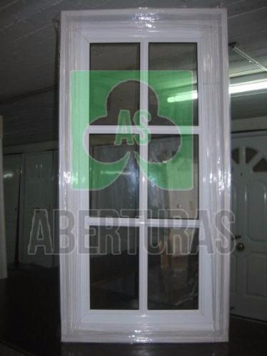 aberturas: raja aluminio blanco repartido 50x100 c/vidrio