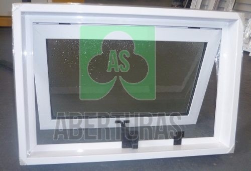 aberturas: ventana brazo de empuje alum blanc 60x40 c/vidrio
