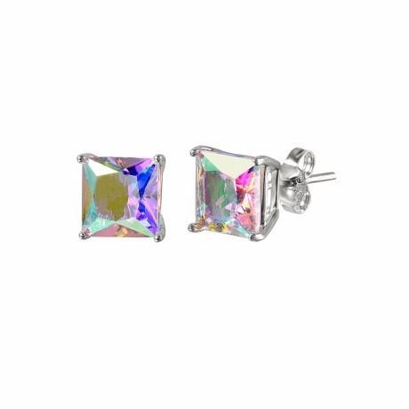 abl cz basket set stud earrings-6mm