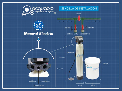 ablandador de agua general electric industrial/comercial