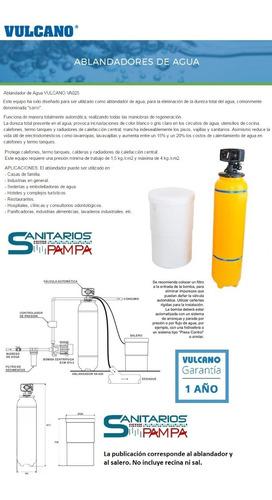 ablandador de agua vulcano 1000 lt/hr
