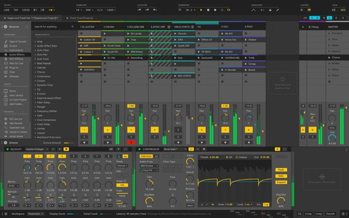 ableton live suite 10  + autotune + live packs (75 gb) win