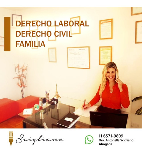 abogada civil - familia - laboral. estudio juridico